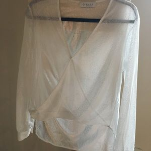 WAYF Sheer Chiffon Blouse from Nordstrom